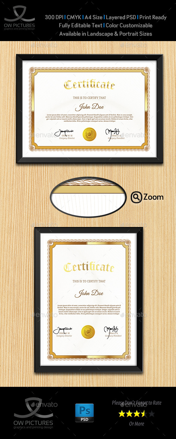GraphicRiver Multi Purpose Certificates Template Vol.4 10595032