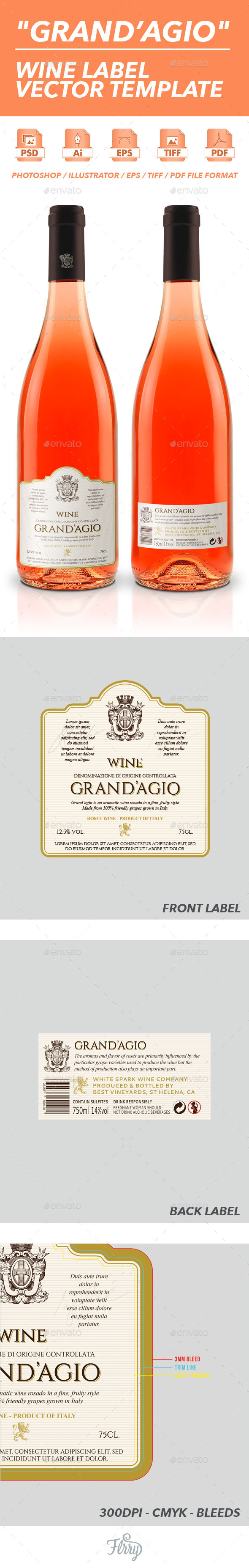 GraphicRiver Grand Agio Wine Label Vector Template 10595108