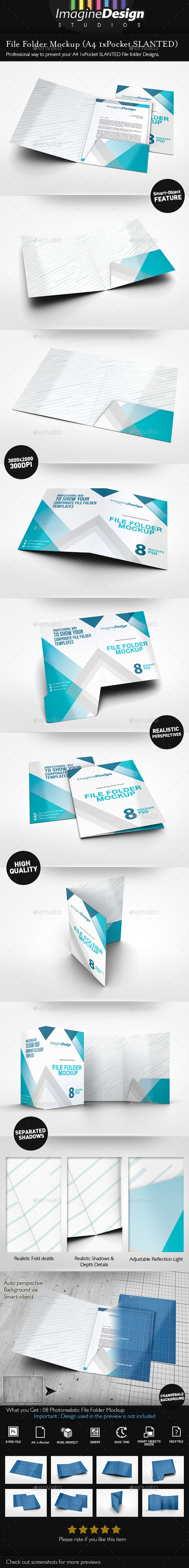 GraphicRiver File Folder Mockup 10595159