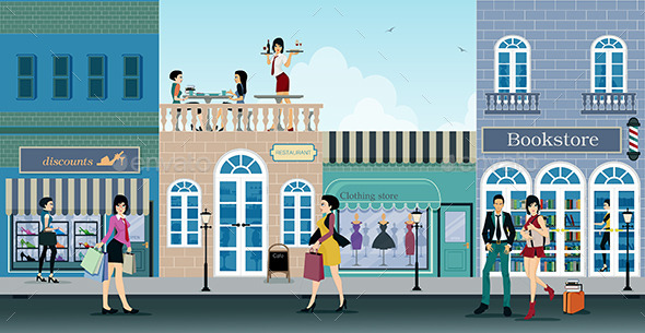 GraphicRiver Shopping Street 10595175