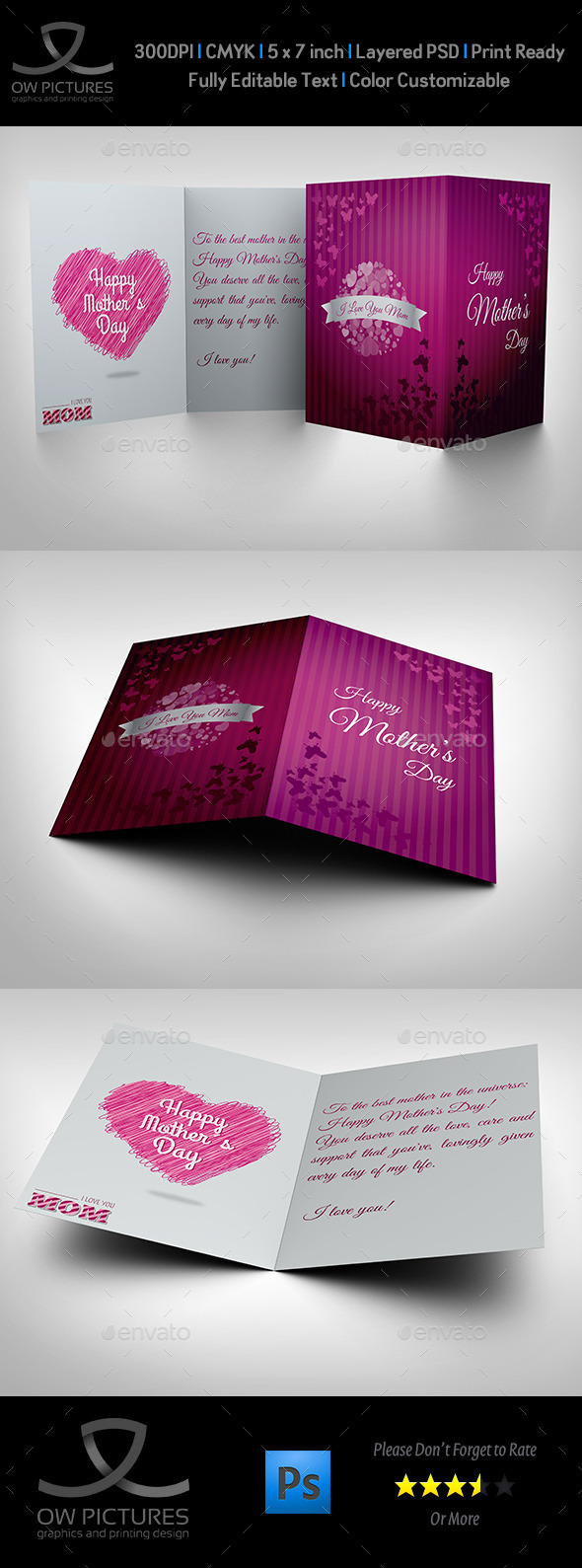 GraphicRiver Mother Day Greeting Card Template 10532141