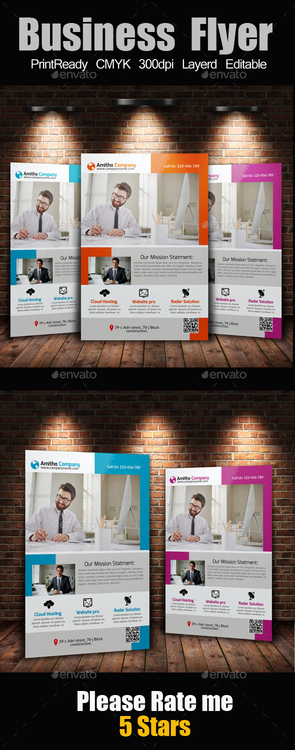 GraphicRiver A4 Business Flyer Template 10595341