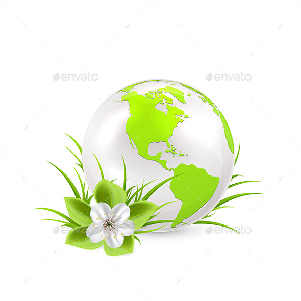 GraphicRiver Earth Globe with Flower 10595353