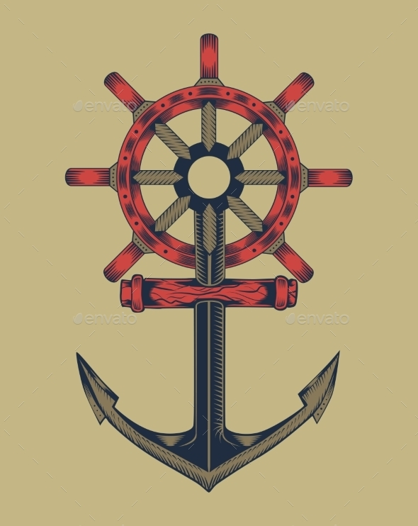 GraphicRiver Anchor with Handwheel 10595504