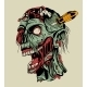 Zombie Head with a Screwdriver - GraphicRiver Item for Sale
