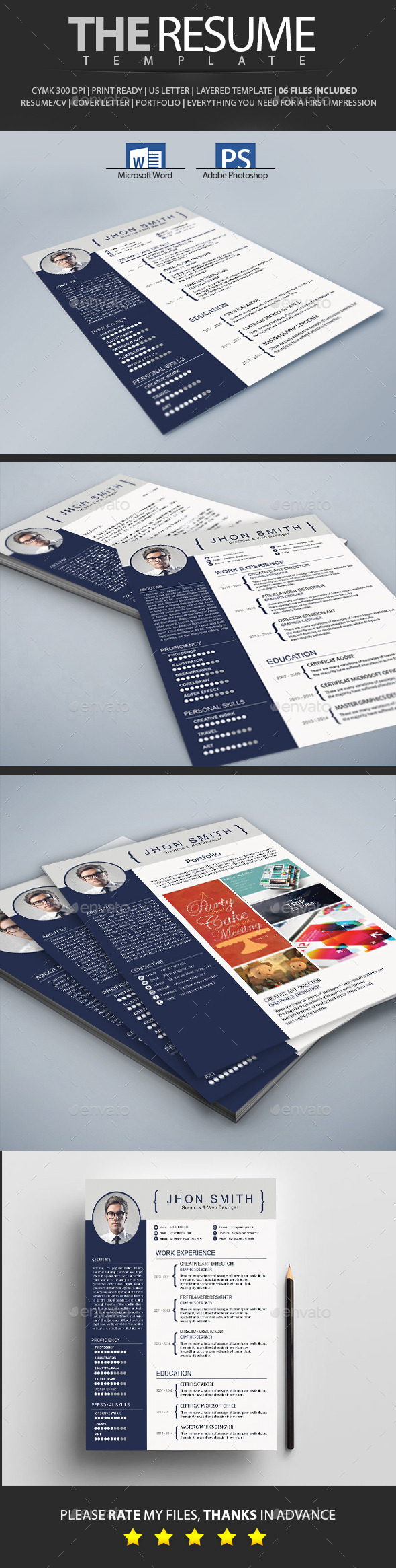 GraphicRiver Resume 10534028