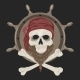 Image Pirate Skull with a Beard - GraphicRiver Item for Sale