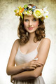 Spring woman with flowers - PhotoDune Item for Sale