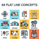 Flat Line Concepts - GraphicRiver Item for Sale