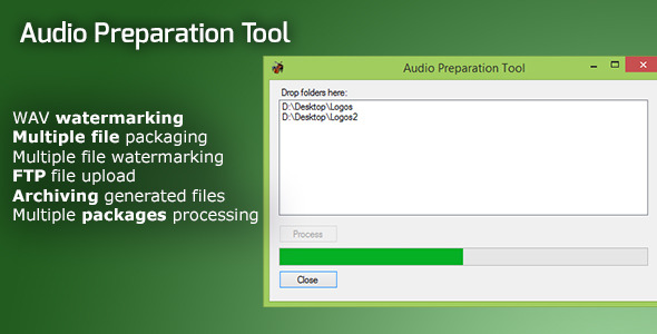 CodeCanyon Audio Preparation Watermarking and Upload Tool 10595838