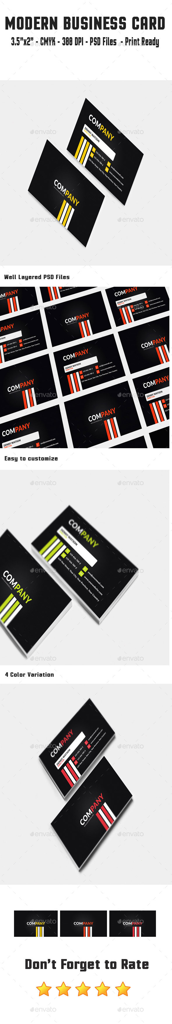 GraphicRiver Modern Business Card 10595878