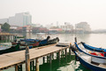 Boats Docked at Chew Jetty in Georgetown, Penang, Malaysia - PhotoDune Item for Sale