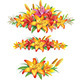 Garlands of Yellow Lilies - GraphicRiver Item for Sale