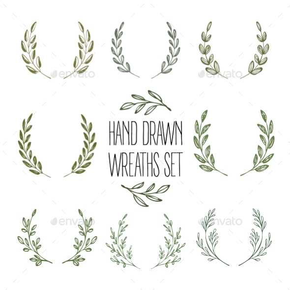 GraphicRiver Set of Wreaths 10596076