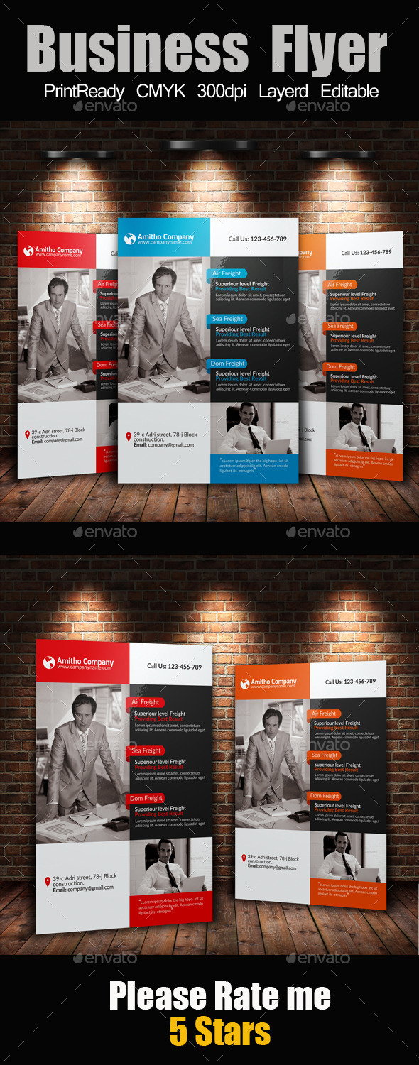 GraphicRiver A4 Business Flyer Template 10596090