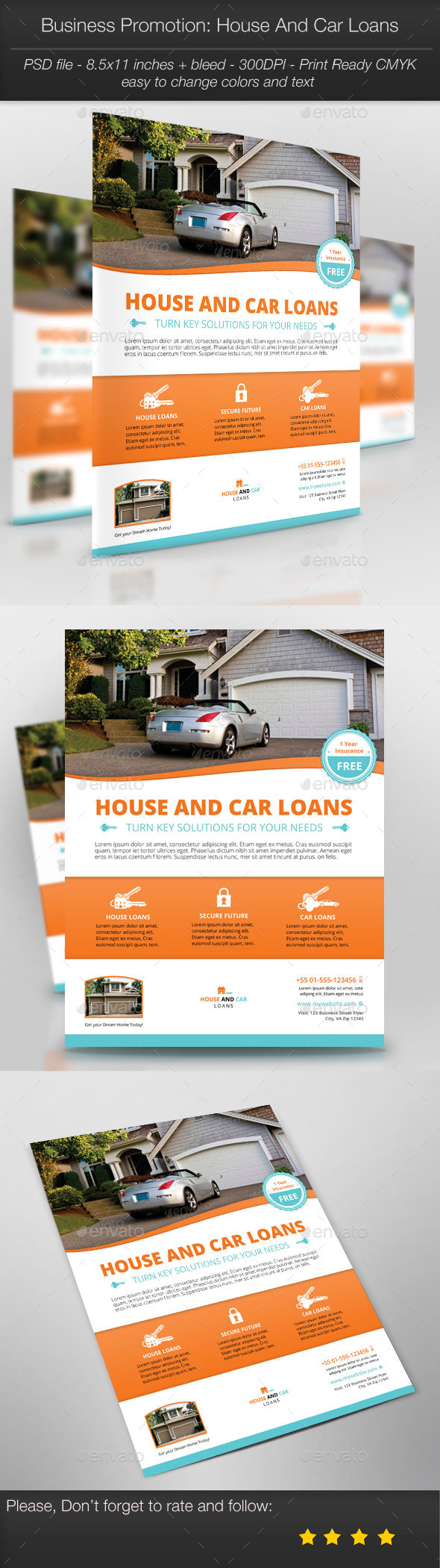 GraphicRiver Business Promotion House And Car Loans 10596372