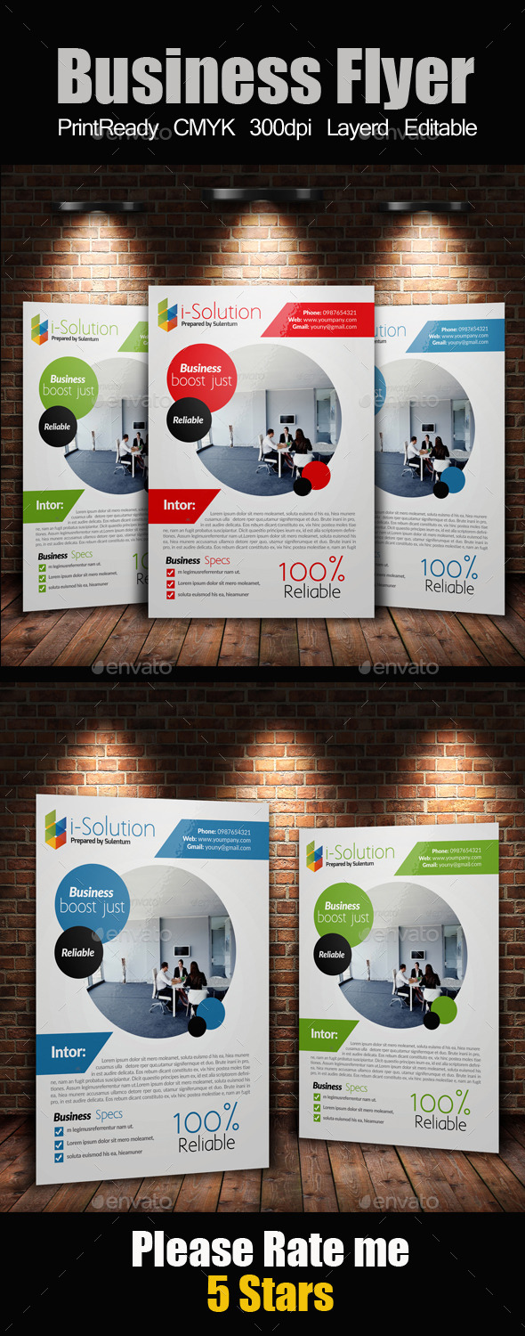 GraphicRiver A4 Business Flyer Template 10596385