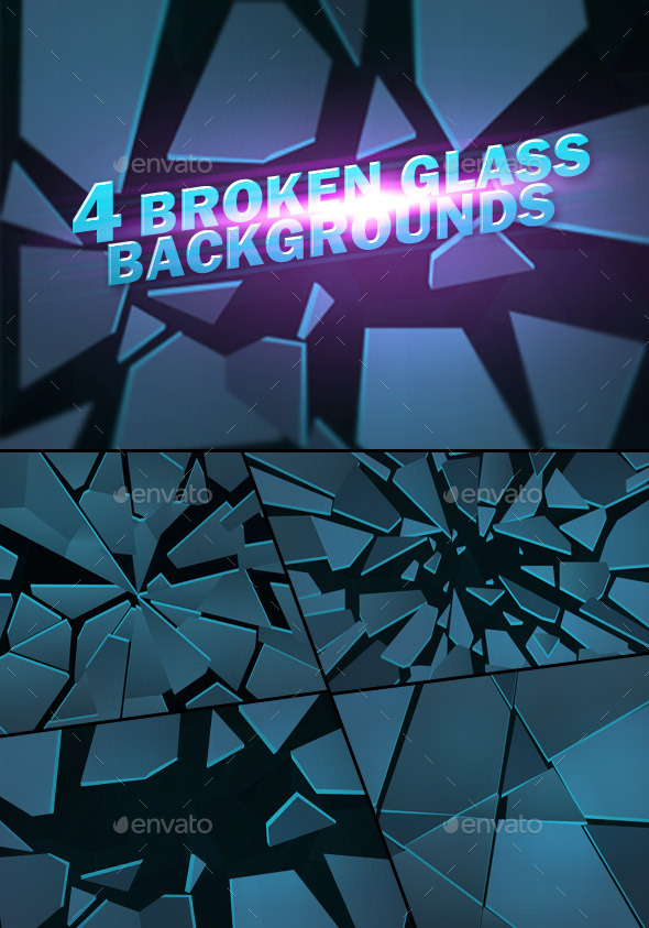GraphicRiver Broken Glass Backgrounds 10596969