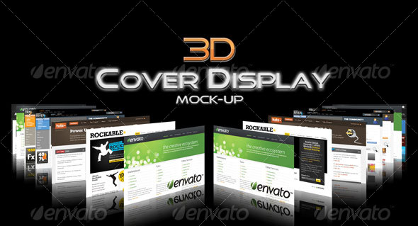3D Cover Display Mock-Up - Website Displays