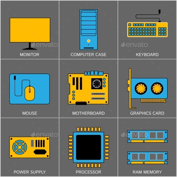 GraphicRiver Set of Flat Line Design Icons 10597009