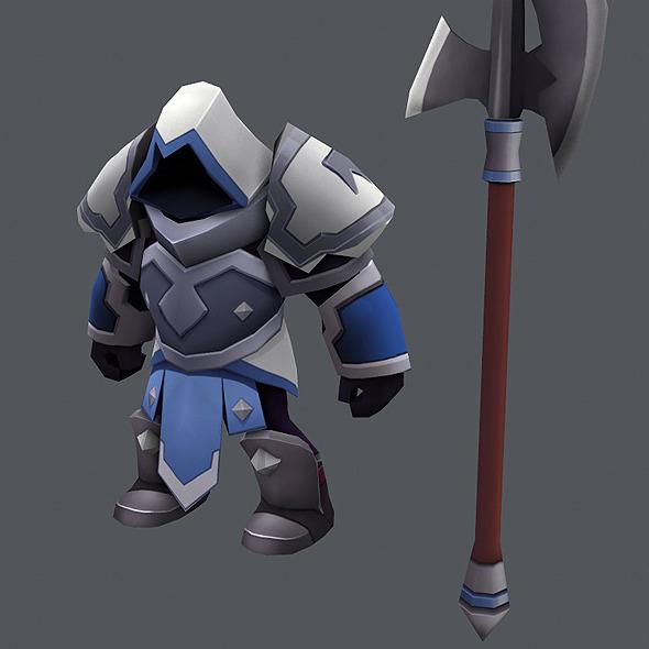 3DOcean Game Knight Spear Man 10597197