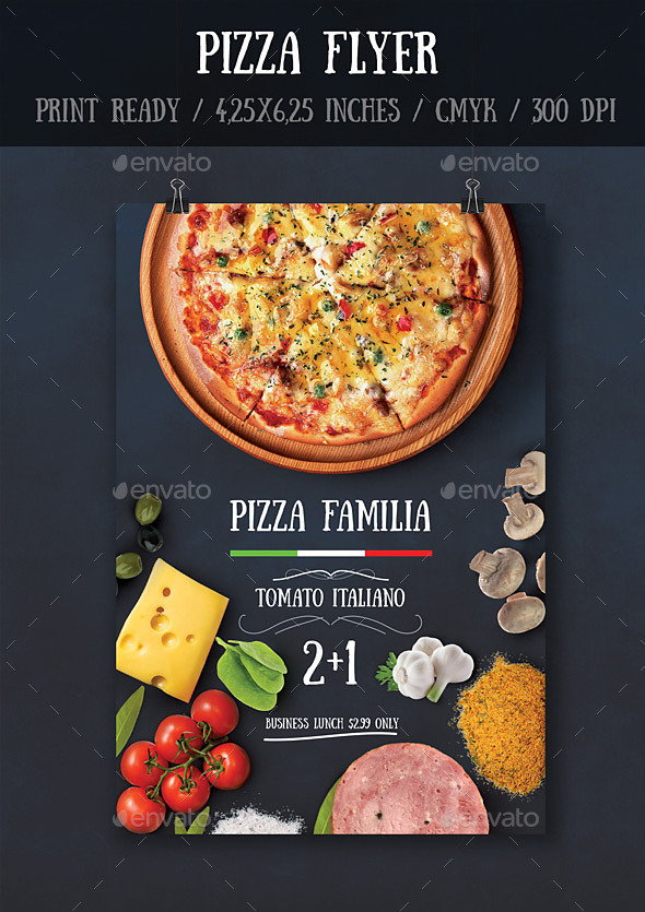 GraphicRiver Pizza Flyer Template 10597214
