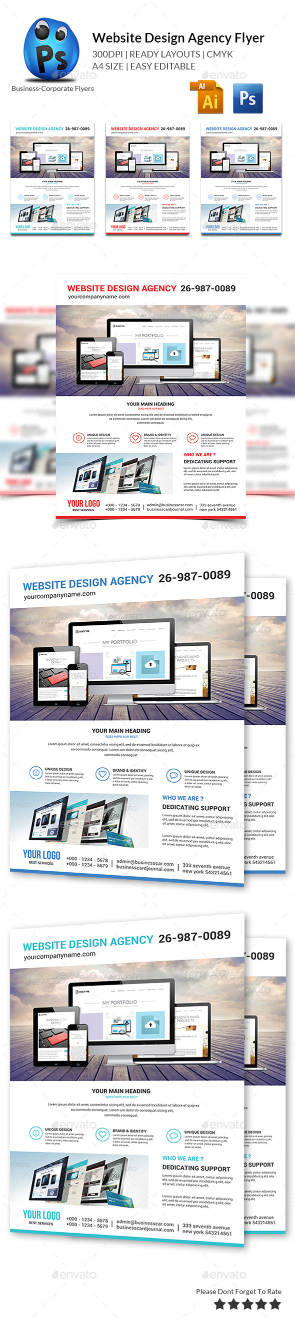 GraphicRiver Website Design Agency Flyer 10597297