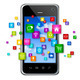 Mobile Phone and flying apps icons - PhotoDune Item for Sale