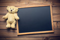 blank chalkboard and teddy bear - PhotoDune Item for Sale