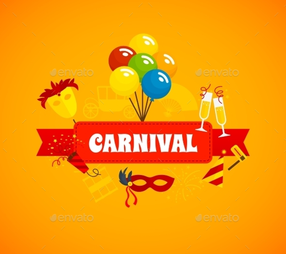 GraphicRiver Carnival Flat Background 10597585