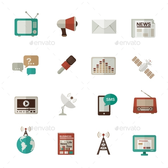 GraphicRiver Media Icons Flat 10597728