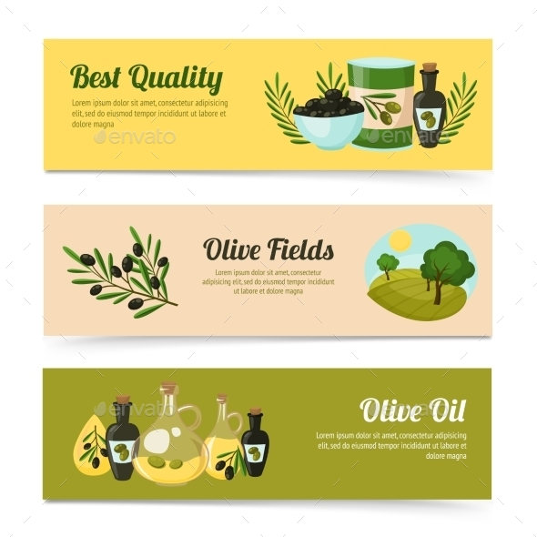 GraphicRiver Olive Banners Set 10597732