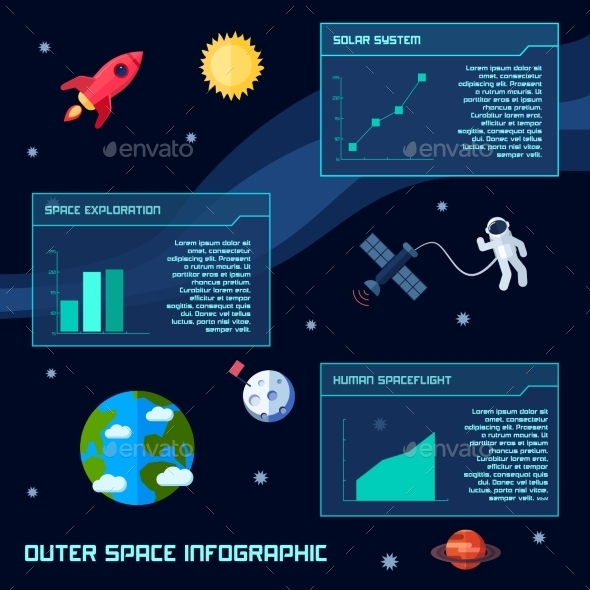 GraphicRiver Space Infographic Set 10597735