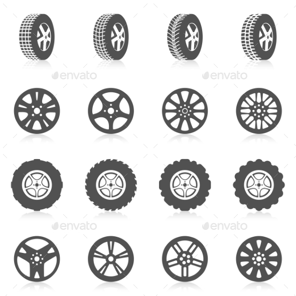 GraphicRiver Tire Icon Set 10597741