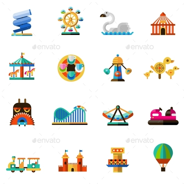 GraphicRiver Amusement Park Icons 10597811