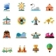 Amusement Park Icons - GraphicRiver Item for Sale