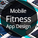 Mobile Fitness App Design for Retina Phone - GraphicRiver Item for Sale
