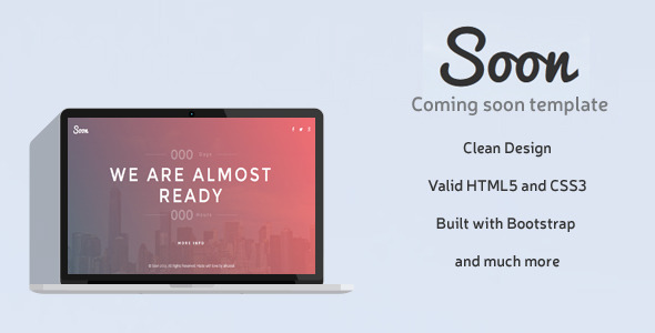 ThemeForest Soon Coming Soon HTML Template 10509449