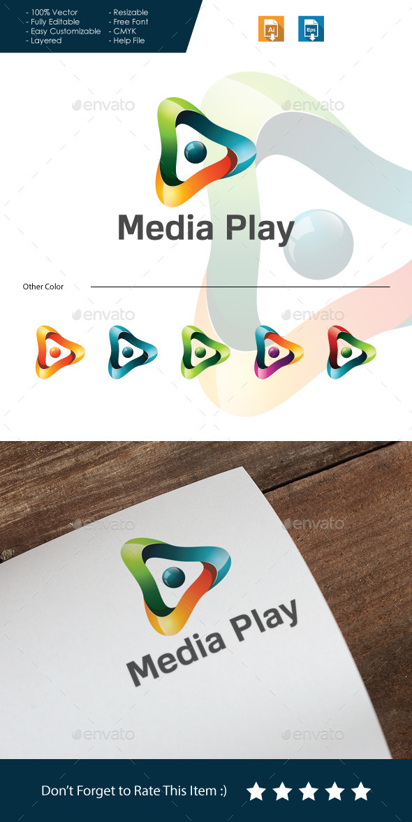 GraphicRiver Media Play Logo 10588124