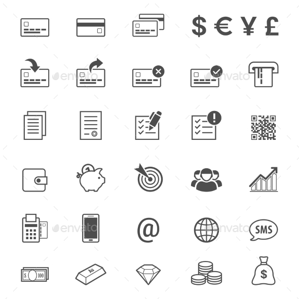 GraphicRiver Finance and Banking Icon Set 10598780