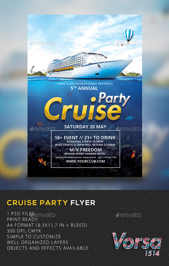 GraphicRiver Cruise Party Template 10598965