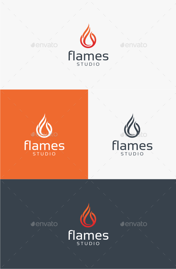 GraphicRiver Flames Logo Template 10599050