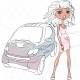 Fashion Girl Near a Car - GraphicRiver Item for Sale