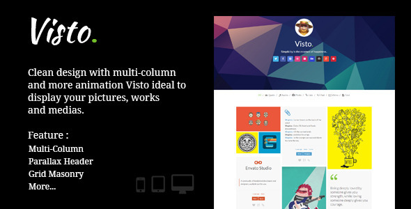 Visto | Multi-column , Responsive Tumblr Theme - Blog Tumblr
