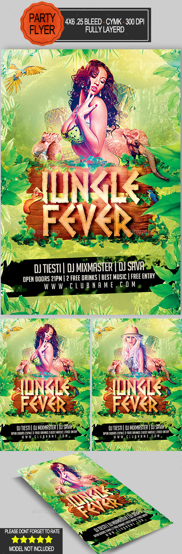 GraphicRiver Jungle Fever Flyer 10599284