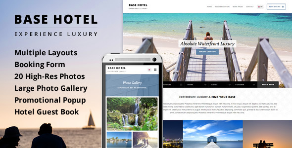 ThemeForest Base Hotel Responsive Booking & Gallery Template 10517095