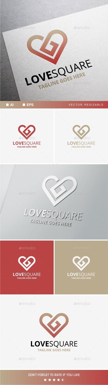 GraphicRiver Love Square 10599337