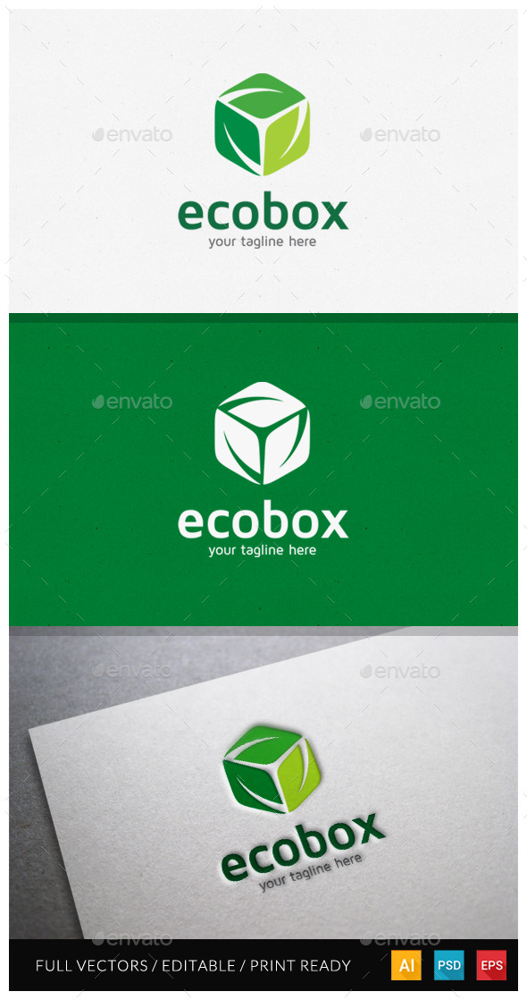 GraphicRiver Ecobox Logo Template 10599353