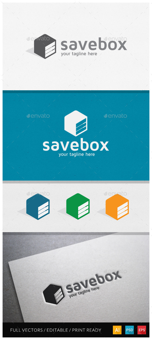 GraphicRiver Savebox Logo Template 10599367