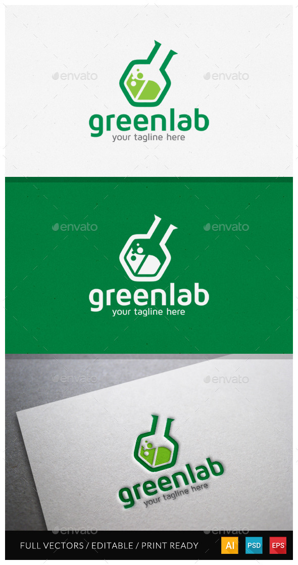 GraphicRiver Greenlab Modern Logo Template 10599386